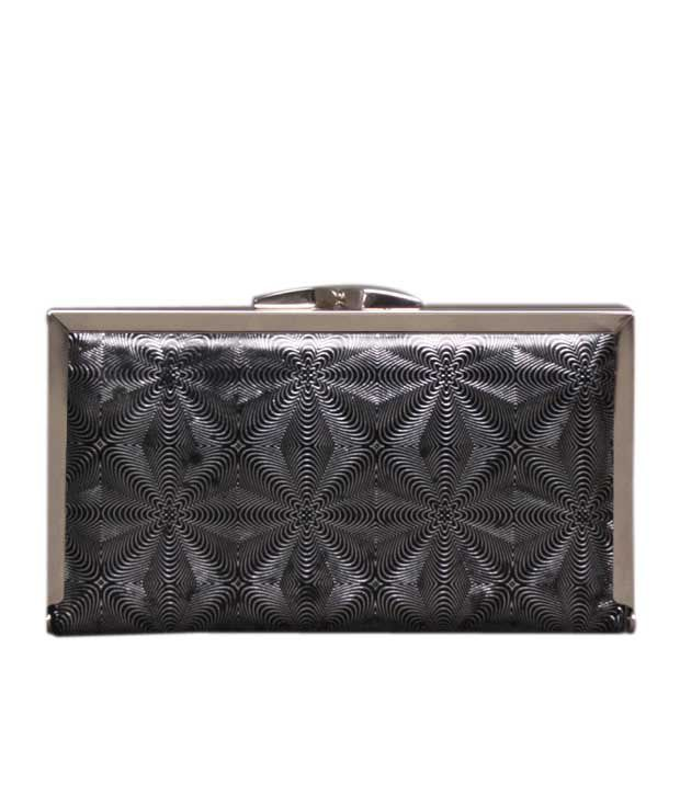Bolso Black & Silver Illusion Design Clutch