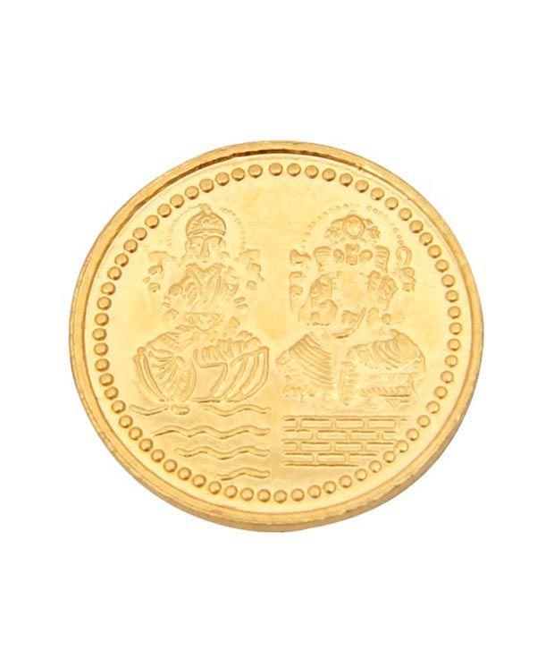 AJ Hallmarked Gold Coin 5gms