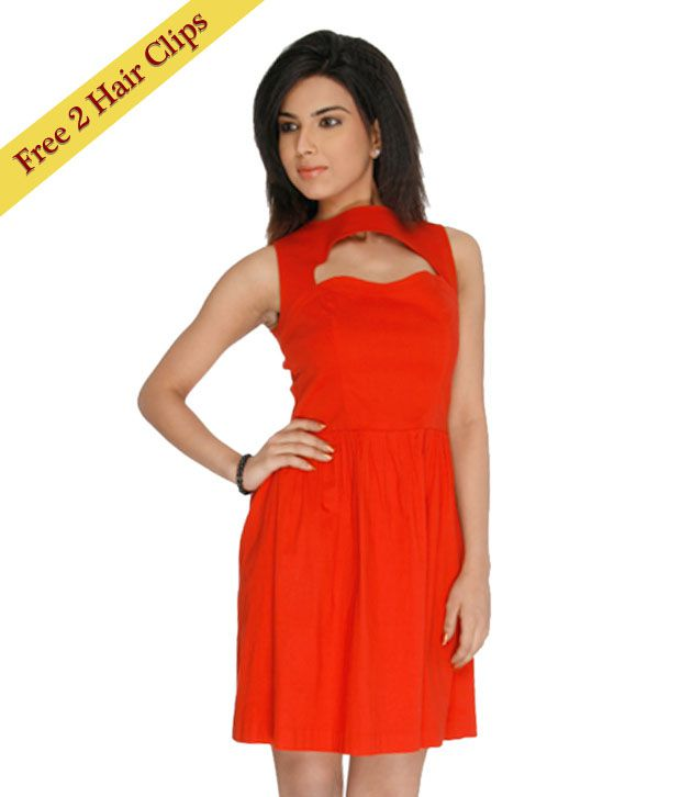 e500030071 ANS Red Sexy Dress - Buy ANS Red Sexy Dress Online at Best Prices in India  on Snapdeal
