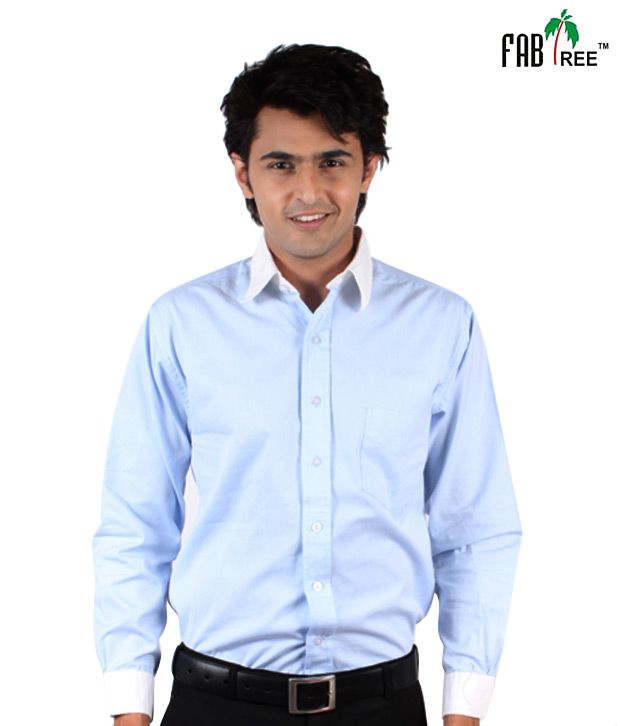Fabtree Cool Sky Blue Shirt
