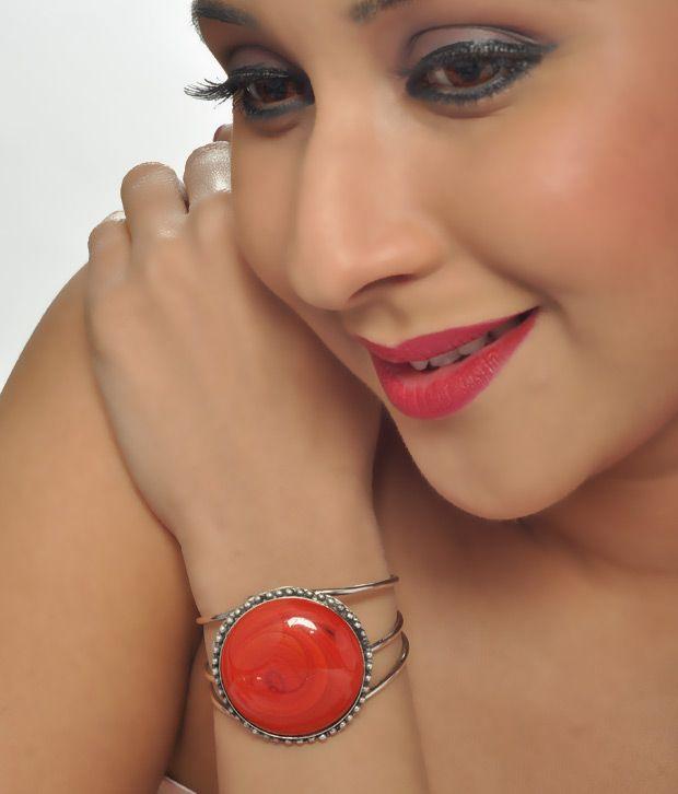 Art Mannia's Red Coral Stone  Bracelet