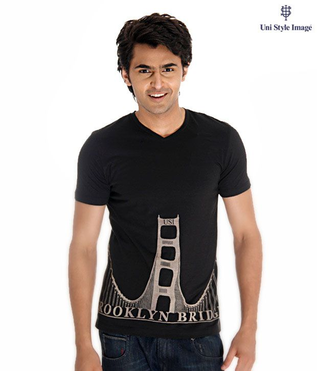 USI Black T-Shirt