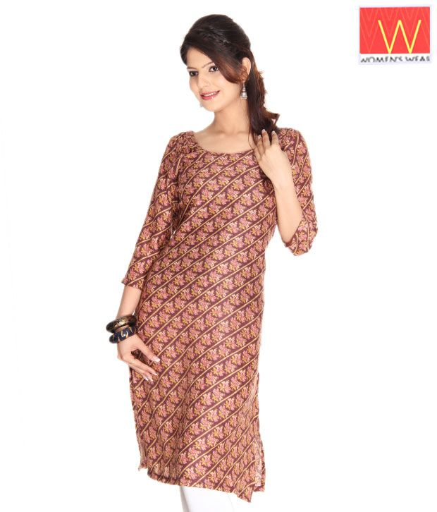 W Brown Ethnic Kurta