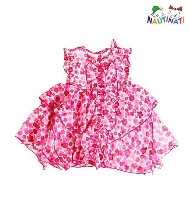 Nauti Nati Printed Chiffon Ruffle Dress