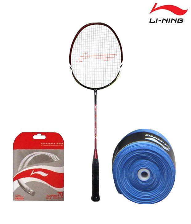 Li-Ning Ss 78 Badminton Racket + Li-Ning String Ap-70 + Li-Ning Grip Gp-13