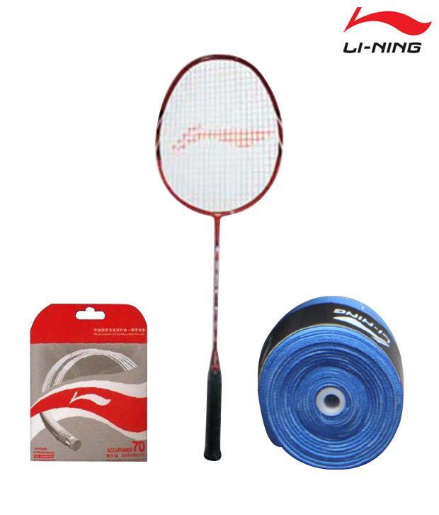 Li-Ning TS 60 Badminton Racket + Li-Ning String AP-70 + Li-Ning Grip GP-13