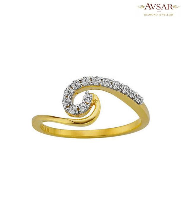 Avsar Designer Gold & Diamond Ring