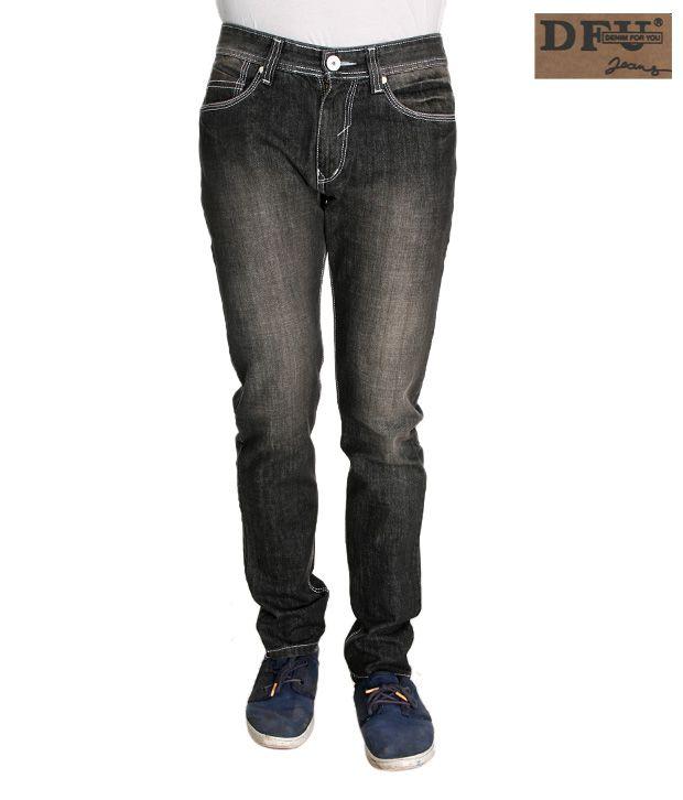 DFU Narrow Fit Black Jeans