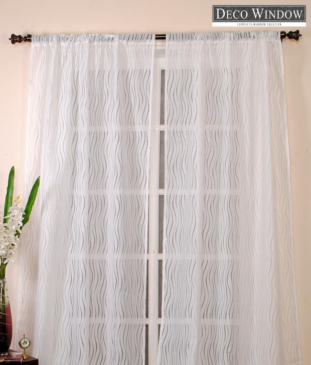 Deco Window Dashing Cream Curtain