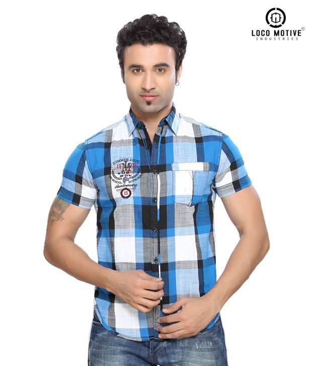 Locomotive Casual Blue Shirt