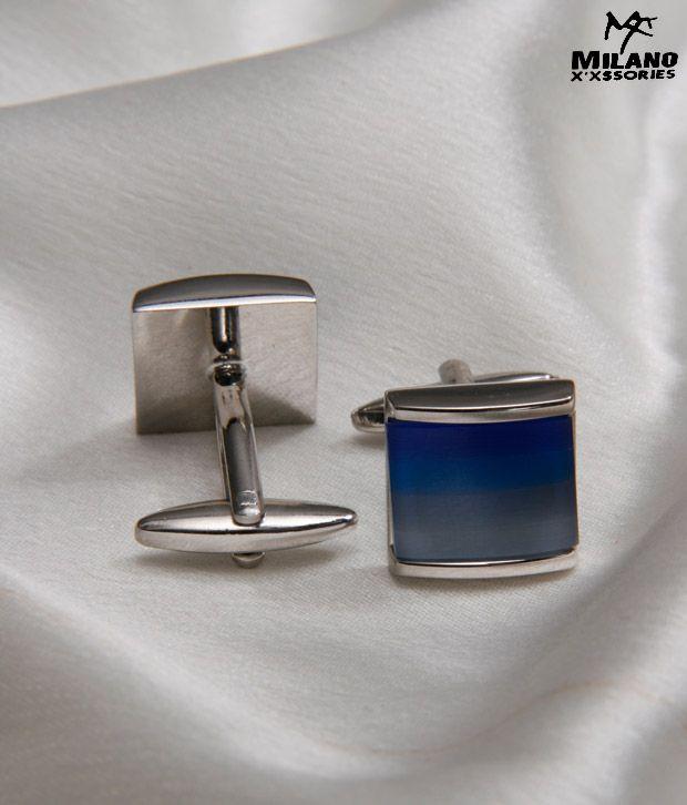 Milano X'xssories Ravishing Blue Stone Cufflinks