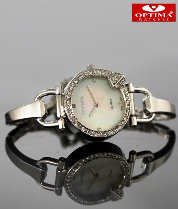 Optima Sleek Bracelet Mother Of Pearl Watch