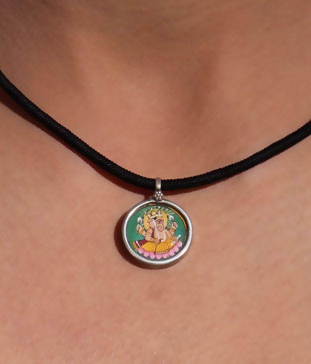 Silver Centrre Majestic Lord Ganesha Pendant