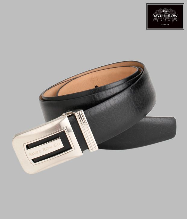 The Savile Row Black Leather Belt