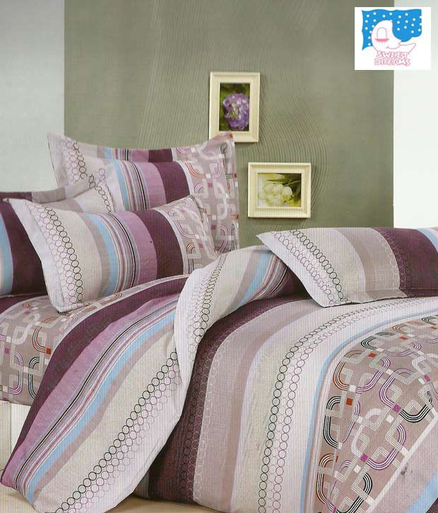 Sweet Dreams Double Bed Sheet With Geometrical Patterns