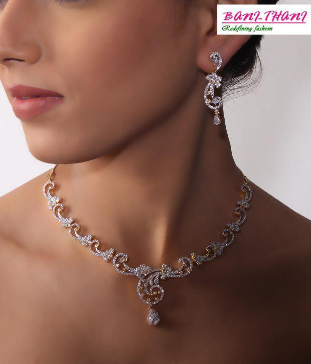 Bani-Thani Gurlz Heavenly Gold Plated Necklace Set