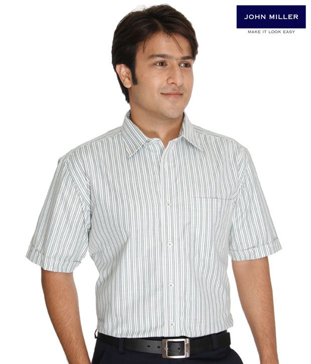 John Miller Green Stripes Shirt