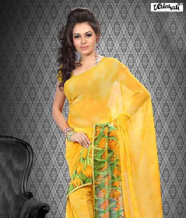 Vaishali Green Faux Georgette Saree