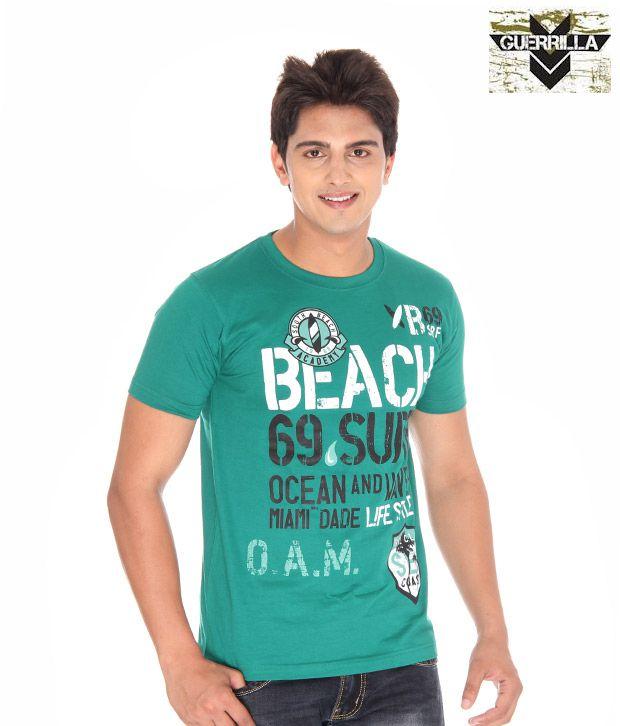 Guerrilla Cool Dark Green T- Shirt