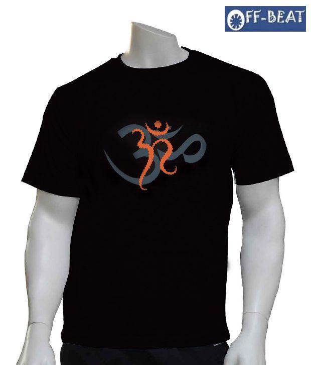 Off-Beat Virtuous  Black Cotton T-Shirt