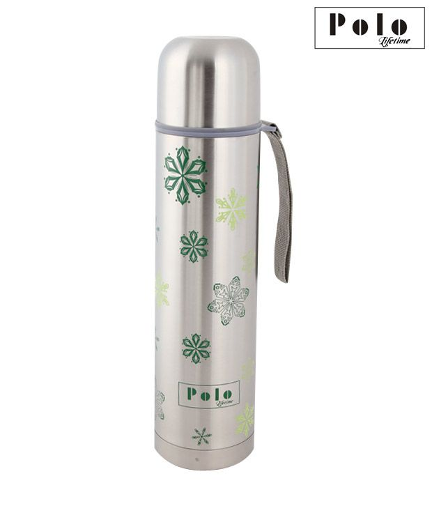 Polo Green Floral Design Stainless Steel Thermo Flask-750 ml