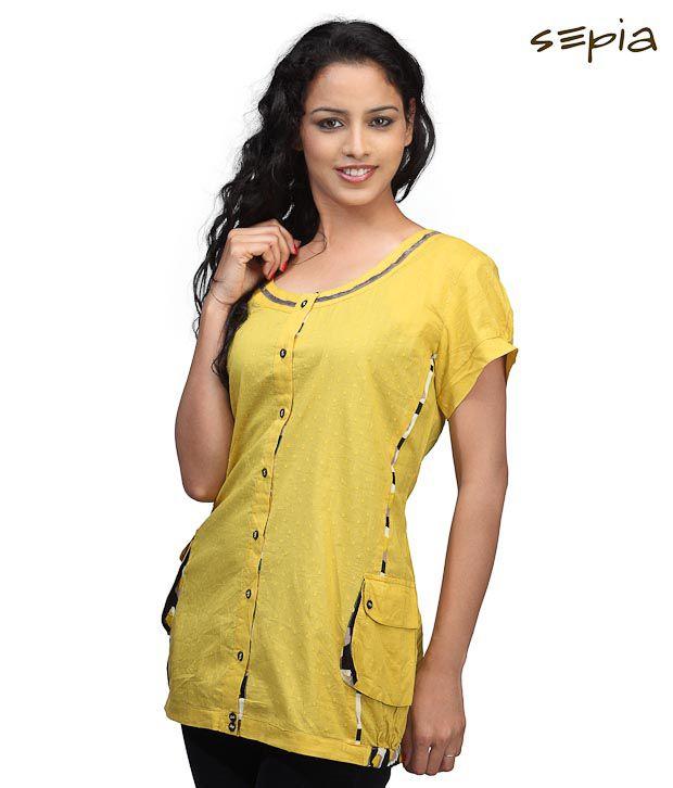 Sepia Stylish Yellow Top