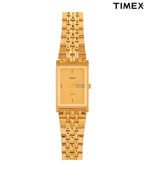 Timex Formal Designer Gold Bracelet Watch
