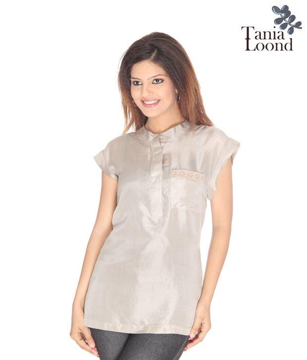 Tania Loond Classy Beige Silk Top