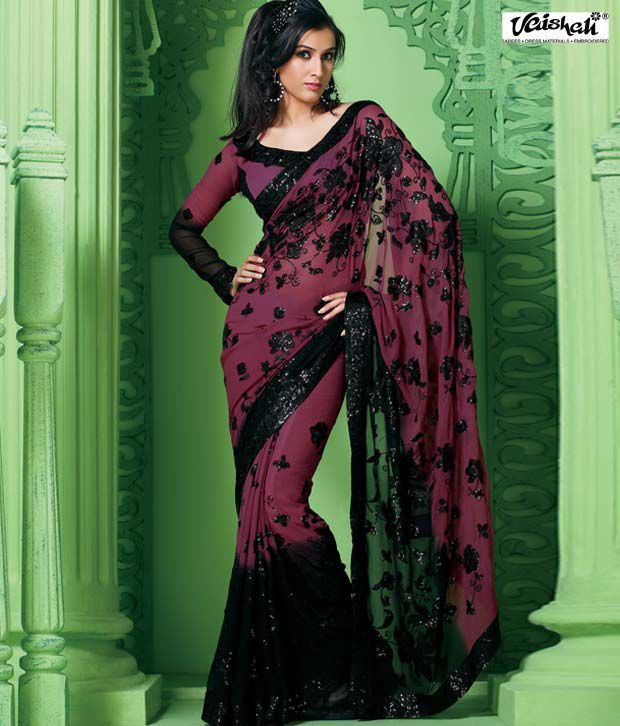 Vaishali Multicoloured Chiffon Saree