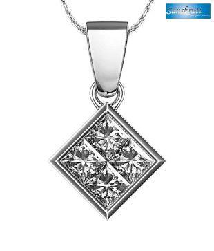Sanskruti Real Diamond Stunning Pendant