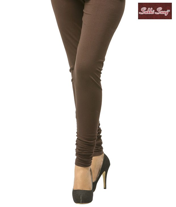 Sakhi Sang Brown Cotton Lycra Leggings