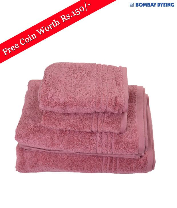 Bombay Dyeing Aerio Zero Twist Wine Towel Set (Free Coin)