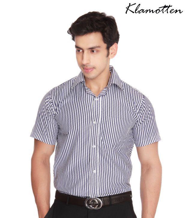 Jonnie Fresh Modish Dark Blue Stripes Shirt