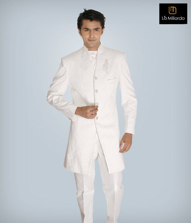 La Miliardo White Imported Fabric Suit