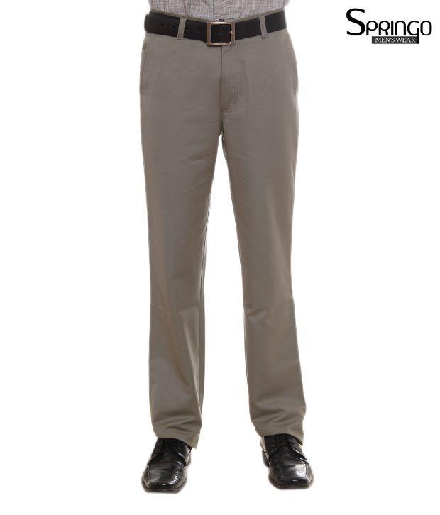 Springo Light Grey Trousers