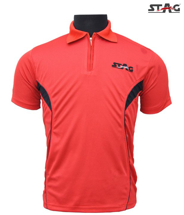 Stag Red Basic Training T-Shirt