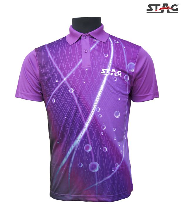 Stag Purple Trance Polo T-Shirt