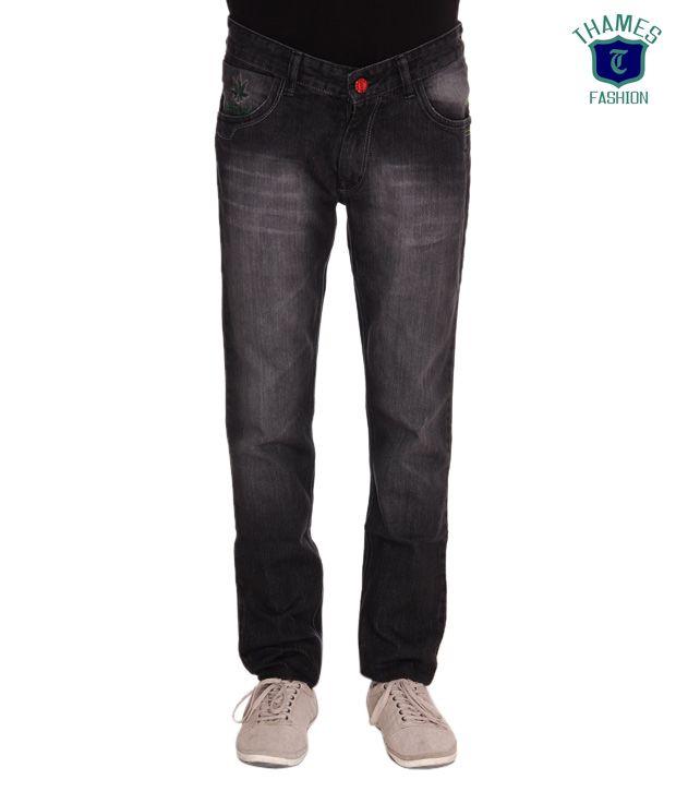 Thames Black Classic Jeans