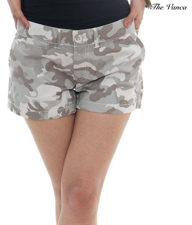 The Vanca Gray Cotton Shorts