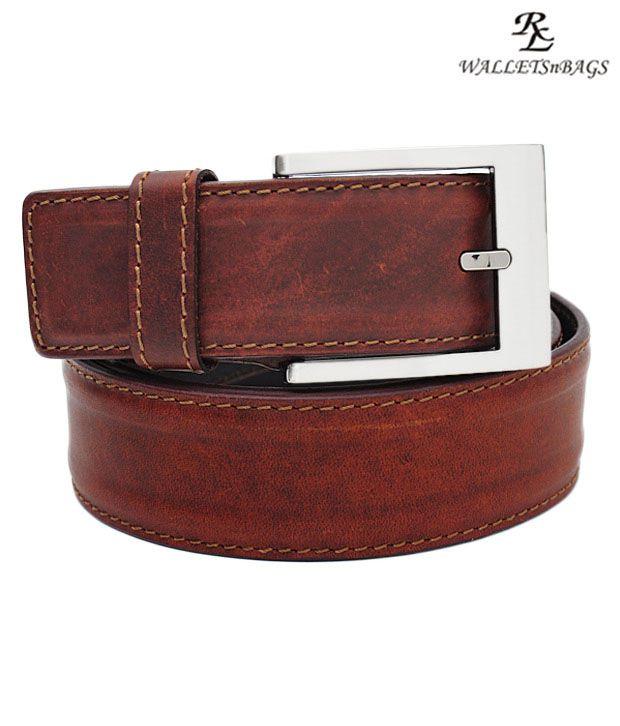 WalletsnBags Stylish Tan Belt