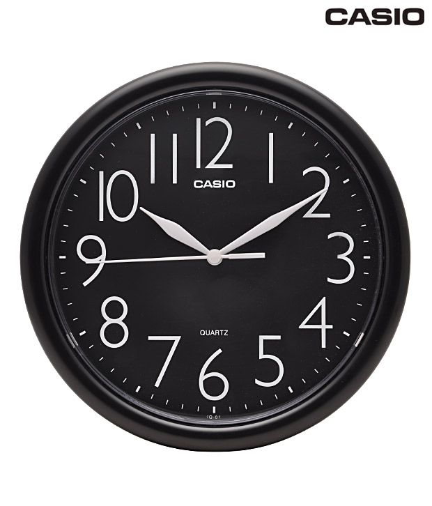 Casio Round Black Wall Clock: Buy Casio Round Black Wall ...