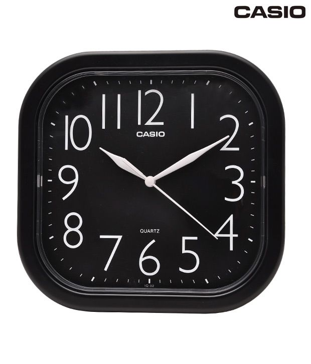 Casio Black Rounded Square Wall Clock: Buy Casio Black ...