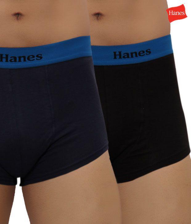 Hanes Comfy Navy Blue Boxer Briefs
