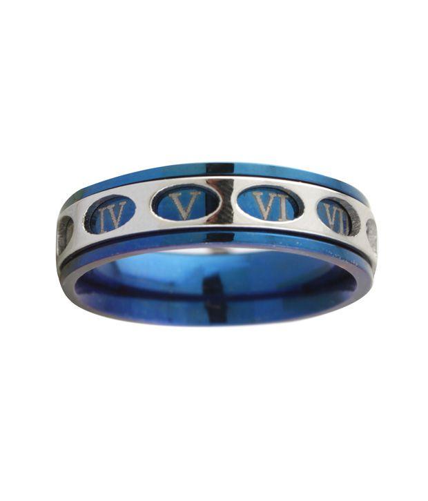 Styleos Revolving Blue Roman Men's Ring