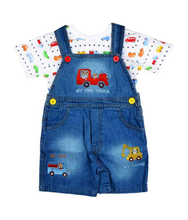 Toffy House Fire Truck Dungarees