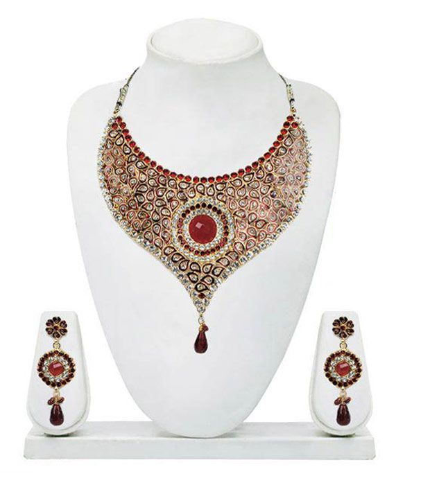 Adhira Splendid Traditional Queen Style Necklace Set
