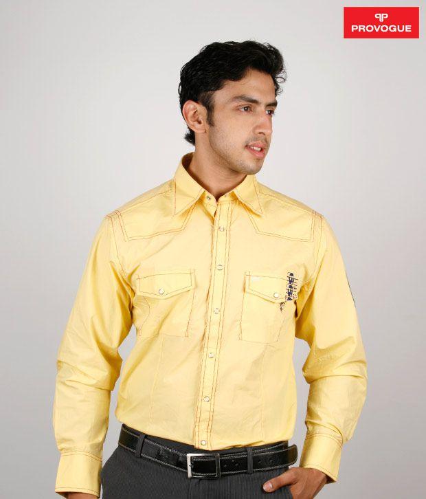 Provogue Light Yellow Shirt