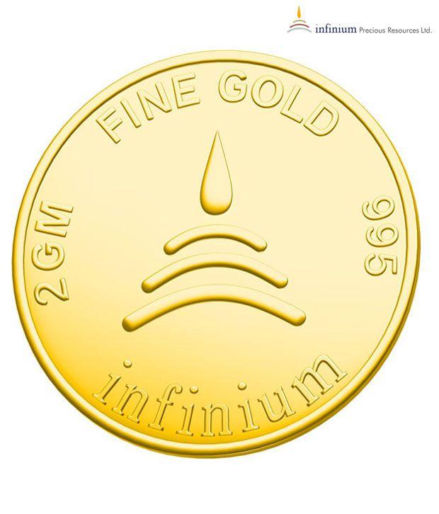 Infinium 24kt 2g 995 Purity BIS Hallmarked Ganesha Gold Coin