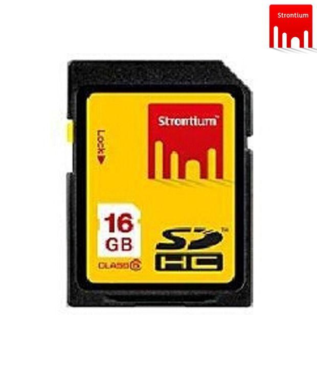 Strontium SDHC 16 GB Class 10 Memory Card