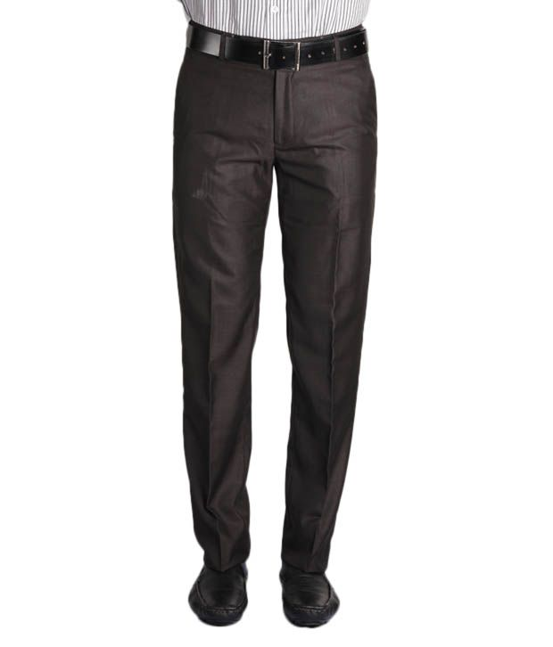 Jogur Dark Brown Slim Fit  Trouser